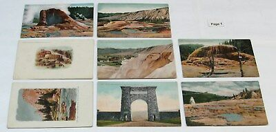 1900's 1910's 1920's 1930's YELLOWSTONE NATIONAL PARK Postcard Lot, 46 Postcards