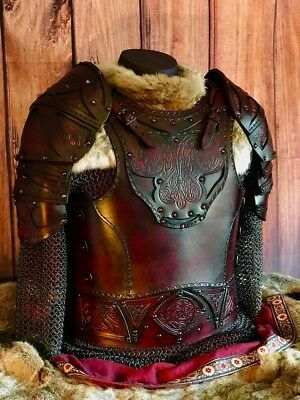 LARP Clan Chief Leather SCA Armor Cuirass, Pauldrons, and Belt