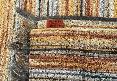 Brand New Missoni Home 2 Bath Towels Eco Dye & Weave Owen 160 Cotton