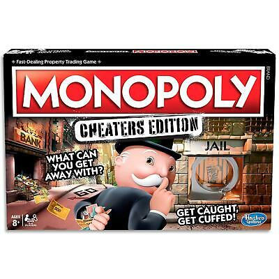 Monopoly Cheaters - Hasbro Family Board Games - Strategy Game Kids Toys Ages 8+