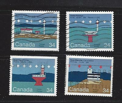 "Canada  1985  # 1063 - 1066  "" Canadian Lighthouse 2  "" Set of 4  Used  F"
