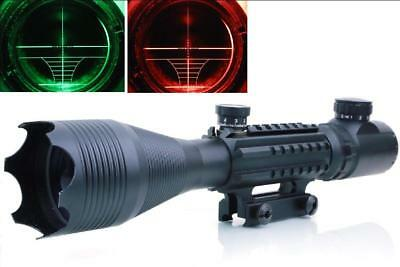 Tactical Tri-Rail 4-16X50 EG Red/Green Mil-Dot Cross Hair  Scope For Hunting
