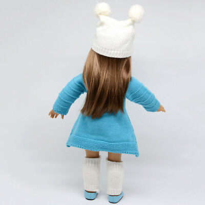 """Cute Winter Sweater Skirt Fits for 18"""" American Girl Doll Clothes Accessory"""