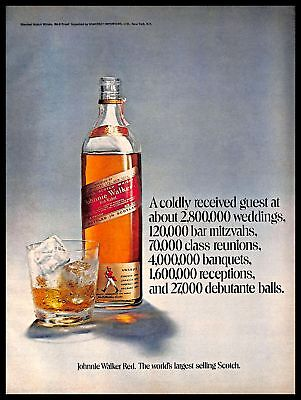 1971 Johnnie Walker Red Label Scotch Whisky Vintage PRINT ADVERTISEMENT 1970s