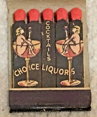 Vintage Feature Girlie Matchbook Matches, Geide's Grill, Brooklyn, NY, 2 Women