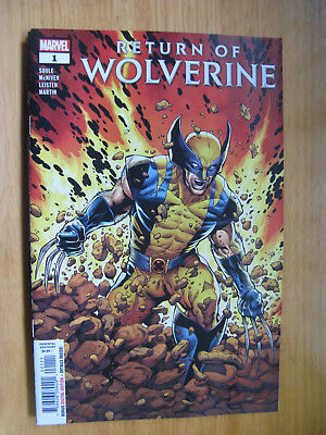 RETURN OF WOLVERINE #1 - 2018. (new with bag/board)