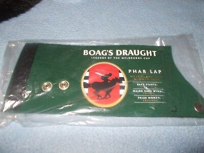 "Boag's Draught  Stubby Holder  ""Legends of The Melbourne Cup"" Phar Lap (sealed)"