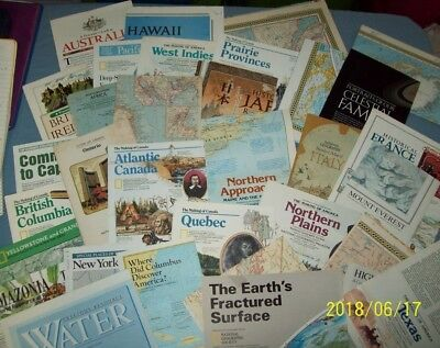 Lot of 33 National Geographic Maps, 60s 70s 80s 90s (1251)