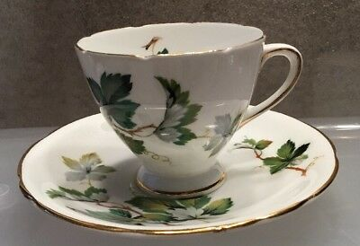 Vintage Gladstone Fine Bone China Cup & Saucer ~#6614~ Staffordshire England