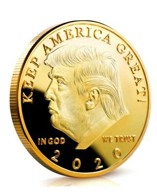 Donald J. Trump 2020 KEEP AMERICA GREAT!Proof Like Gold Challenge Coin-US SELLER