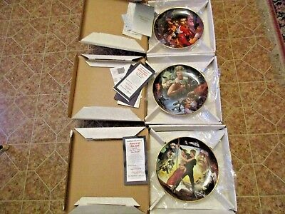 3 - 1993 Star Wars Trilogy Hamilton Collection Collectors Plates w/ COAs & Boxes
