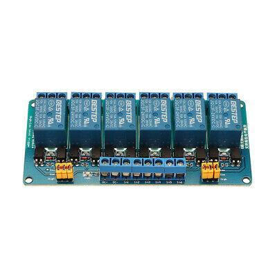 [NEW] BESTEP 6 Channel 24V Relay Module High And Low Level Trigger For Arduino