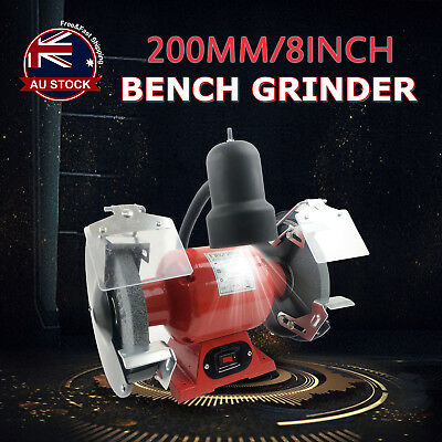 "8"" Bench Grinder 350W 200mm Knife Sharpener Power Tool Industrial Grinding B"
