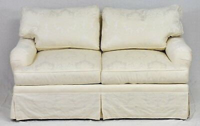 Outstanding Jules Rist Designer Sofa White Damask  English Style High End