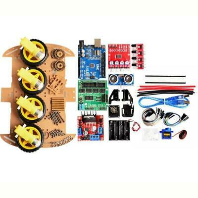 [NEW] 4WD DIY Smart Chassis Car Kit  For Arduino with UNO R3 + Ultrasonic Module