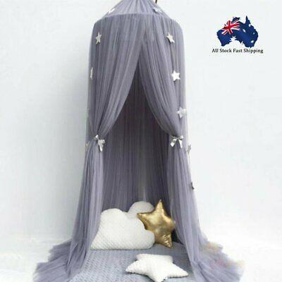 AU Kids Baby Bedcover Bed Canopy Mosquito Net Tent Cotton Curtain Bedding Dome
