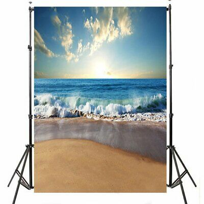[NEW] 3x5ft 5x7ft Sunny Sea Beach Photography Backdrop Studio Prop Background