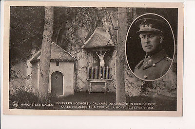 Vintage Postcard King Albert I of Belgium Mourning Card