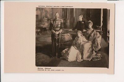 Vintage Postcard King George V Queen Mary of Great Britain & Family