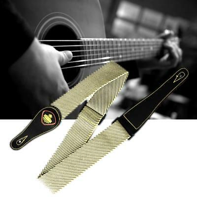 "Adjustable Electric Acoustic Guitar Bass Strap Comfortable 2"" Wide Leather End"