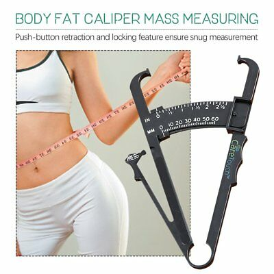 Body Fat Measurement Testing Caliper Skinfold Skin Fold Gym Weight Loss Test WQ