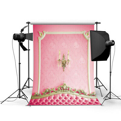 [NEW] 3x5ft Pink Bedside Photography Backdrop Studio Prop Background