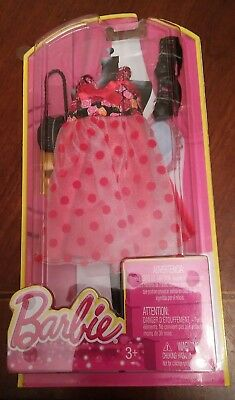 """Mattel Barbie Fashionistas """"Red and Flowers DRESS"""" Shoes & Purse #N8328 - NEW"""