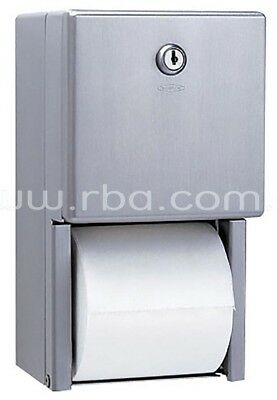 RBA MULTI ROLL TOILET TISSUE DISPENSER 155x280mm Surface Mounted, Tumbler Lock