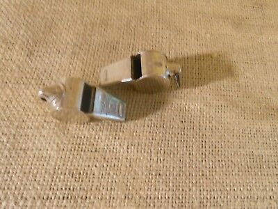 Lot OF (2) Whistles- One Acme Thunderer Vintage Brass Whistle Made in England