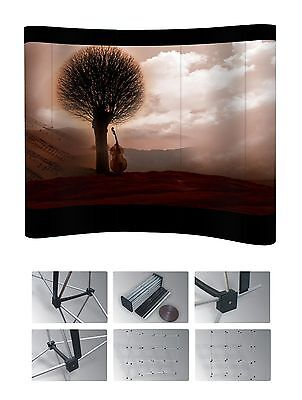 3*3 Curved exhibition Pop Up Display Trade Show Booth Stand Without Printing