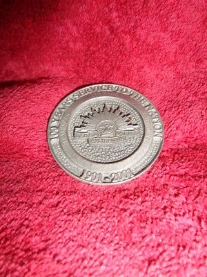 Collectable/medallion 100 Years Service To The Nation Army 1901-2001