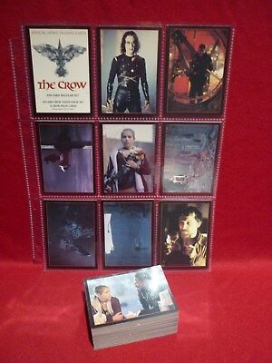 The Crow 100 Card Set Trading Cards 1994 Kitchen Sink Hard To Find Vgc