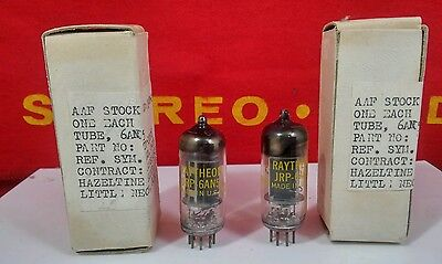 Matching DATE Pair JRP 6AN5 Raytheon NOS/NIB Vacuum Tubes  Hickok Tested   L#2