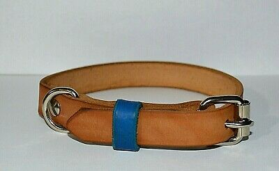 Handmade High Quality Bi-Color Leather Dog Collar XS - S - M - L -XL