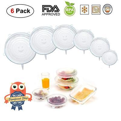 White Silicone Stretch Lids 4 Pack Single Sizes Cover for Bowl 4.5inch4