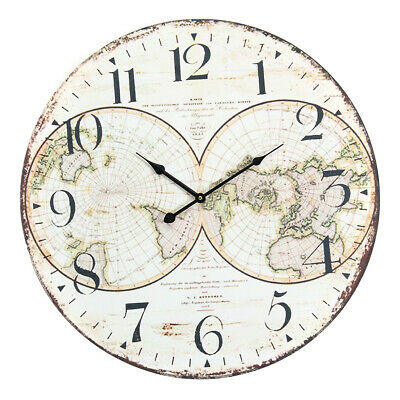 [NEW] 58cm Wall Clock Extra Large Compressed Wooden Retro Wall Clock Lacquer Sur
