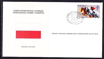 Poland 1980 Olympic Games Committee  Souvenir Cover Unaddressed