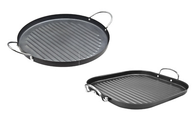 Non Stick Carbon Steel BBQ & Hob Frying Griddle Grill Fry Pan Suqare/Cricle 30cm