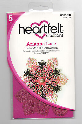 Arianna Lace Heartfelt Creations Die for Cardmaking,Scrapbooking, etc