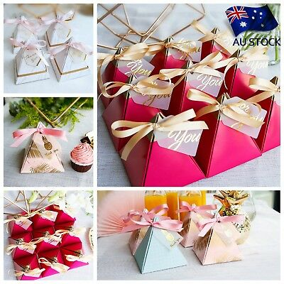 10/20/50PCS Triangular Candy Gifts Boxes Pineapple Leaf Wedding Party Supplies