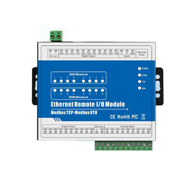 [NEW] M340T TCP Ethernet Remote IO Data Acquisition Module (8RTD+RS485+RJ45)