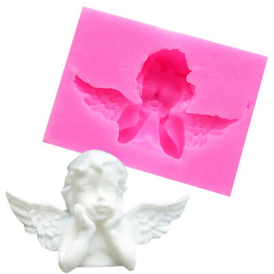 3D Angel Cupid Silicone Mold Fondant Chocolate Cake Decor Mould Baking Tool DIY
