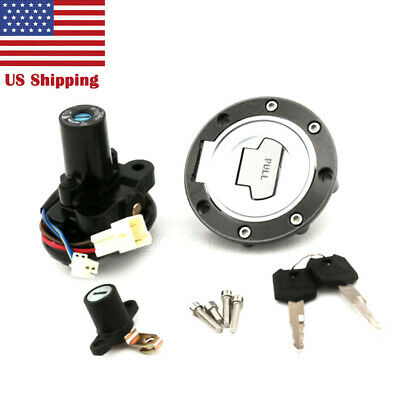 Ignition Switch Gas Cap Lock Set Key For Yamaha YZF R1 2004-15 FJR1300 2003-05
