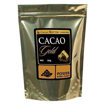 Power Super Foods Cacao Gold Butter Chunks Certified Organic 250g