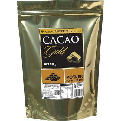 Power Super Foods Cacao Gold Butter Chunks Certified Organic 500g