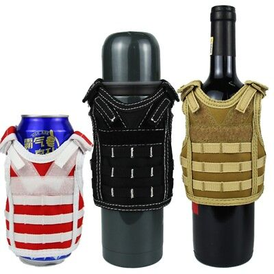 Can Bottle Cooler Beverage Insulator Military Tactical Vest Beer Can Cover AU
