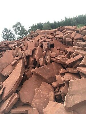 50 x Lazonby Red Sandstone Stepping Stones/Paving Natural Shapes