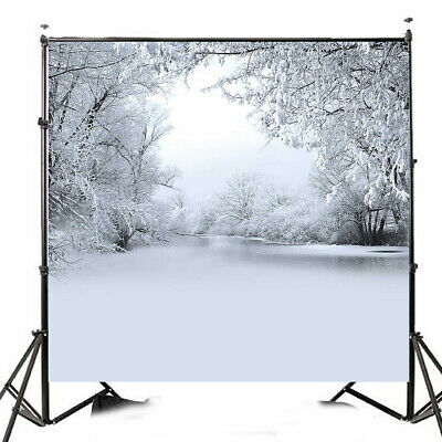 [NEW] 10x10FT Winter Ice Snow Tree Photography Vinyl Background Studio Backdrop