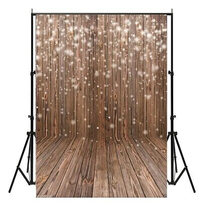 [NEW] 5x7FT Snow Wood Floor White Theme Vinyl Studio Photography Backdrop Photo