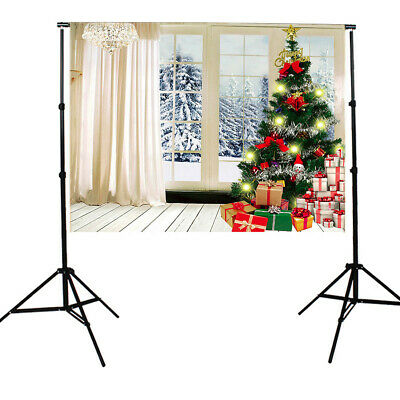[NEW] 7X5FT Indoor White Christmas Theme Studio Photography Background Photograp